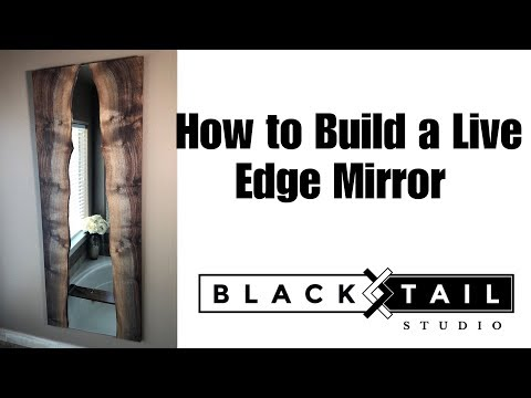 DIY Live Edge Mirror