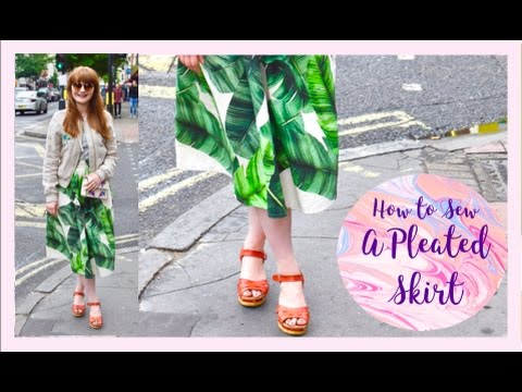 How to Sew a Pleated Skirt Without a Pattern: Sew Along Tutorial ...