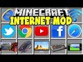Minecraft INTERNET MOD | COMPUTERS, IPADS, YOUTUBE & MORE!!