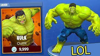 HULK's new SKIN at FORTNITE