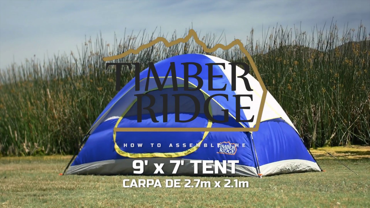 Timber Ridge Tents 9u0027 x 7u0027 Dome Tent Set Up & Timber Ridge Tents 9u0027 x 7u0027 Dome Tent Set Up - YouTube