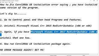 Corel Draw X8 Install Problem Haihay Info