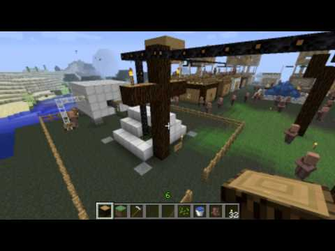 Minecraft Geothermal Power Plant an Village