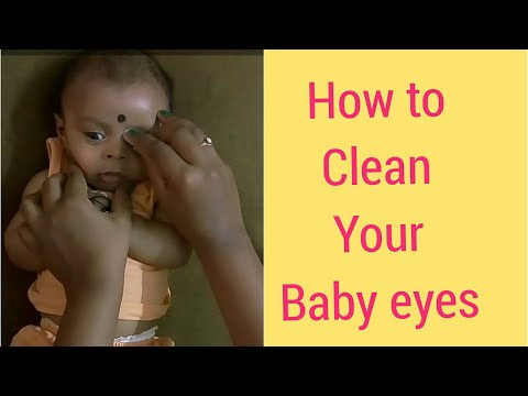 How to clean eyes of a baby / Newborn baby care ideas / baby eyes cleaning