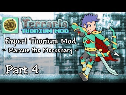 Terraria 1.3 Expert Thorium Mod Part 4 | Brain Battle, New NPCs & Wings! | 1.3 Let's Play