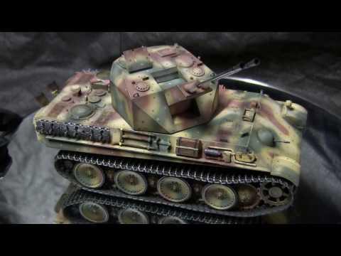 1/35th scale vintage Dragon German WWII Flakpanzer V Coelian