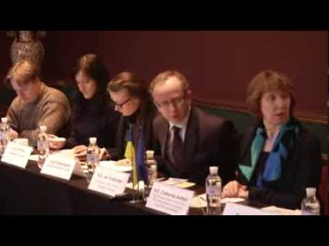 Catherine Ashton in Kiev, Ukraine - meeting with Ambassadors