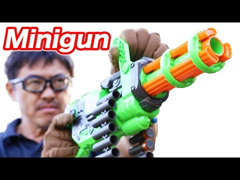 ナーフ ミニガン!?Adventure Force Scorpion Motorized Gatling Dart Blaster Toy マック堺 レビュー