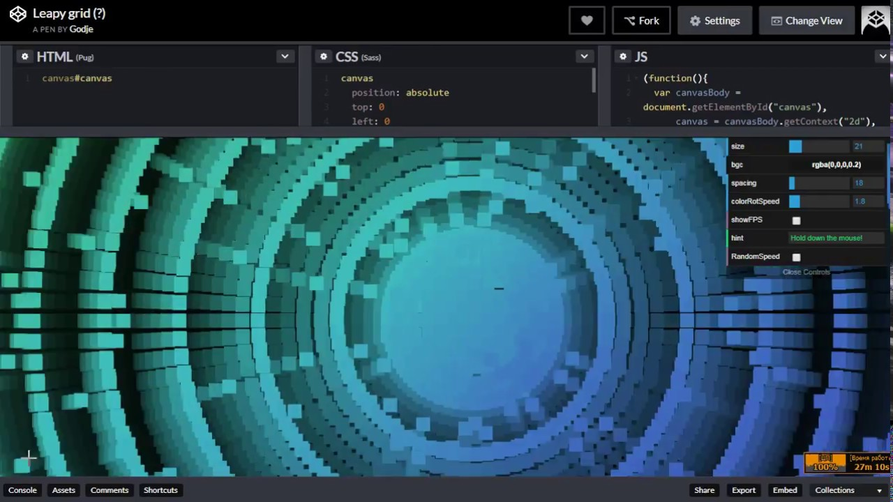 Codepen Canvas