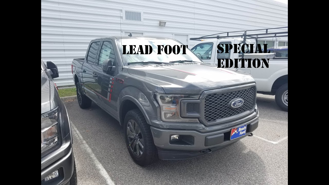 2018 Ford F-150 Lariat Special Edition in Lead Foot - YouTube
