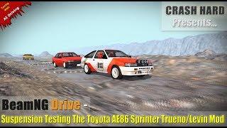 BeamNG Drive - Suspension Testing The Toyota AE86 Sprinter Trueno/Levin Mod