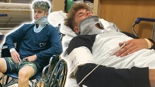 HOSPITALIZED WITH A BROKEN BACK!!!!