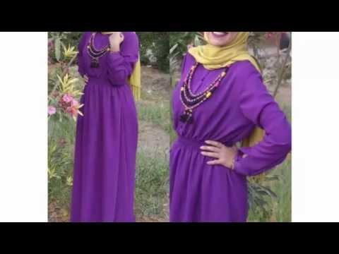 816bb277c Purple Hijab Dresses فساتين للمحجبات باللون البنفسجي - YouTube