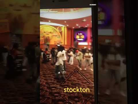 Warning: Video contains strong language  Shooting and chaos Friday night in downtown #Stockton movie