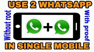 how to use two whatsapp account in one android phone || 100% working