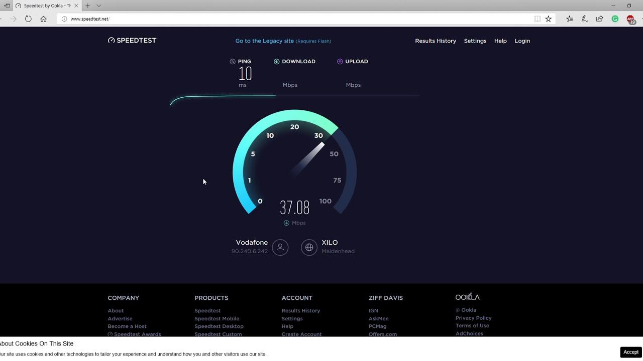 Vodafon Speedtest Dsl