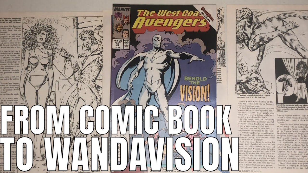 Wandavision Backtrack -  Translation From Avengers West Coast Comic Book to Disney Plus TV Show
