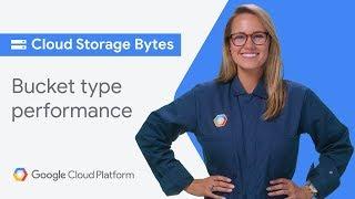 Bucket type performance (Cloud Storage Bytes)