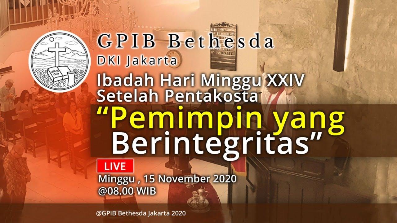 Ibadah Hari Minggu XXIV Sesudah Pentakosta (15 November 2020)