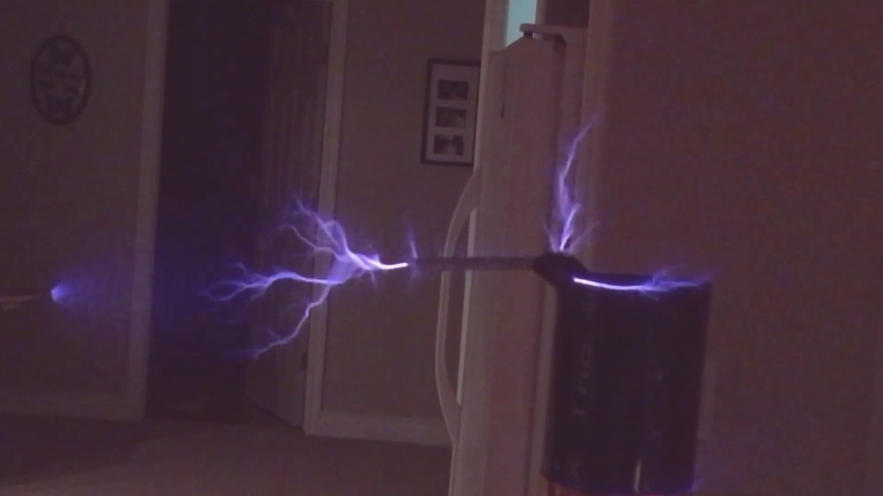Spark Gap Zvs Flyback Transformer Driven Tesla Coil Youtube Driver On Induction Heater Schematic Diagram