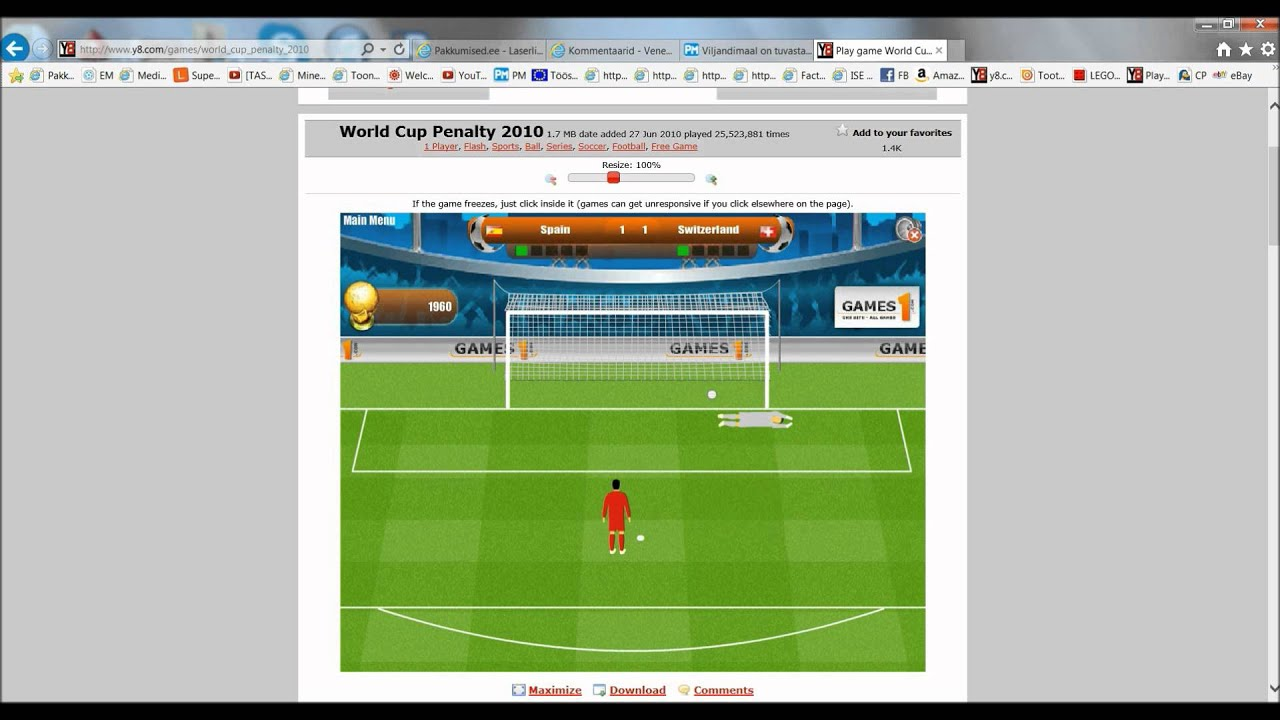Mängin Y8 World cup penalty 2010