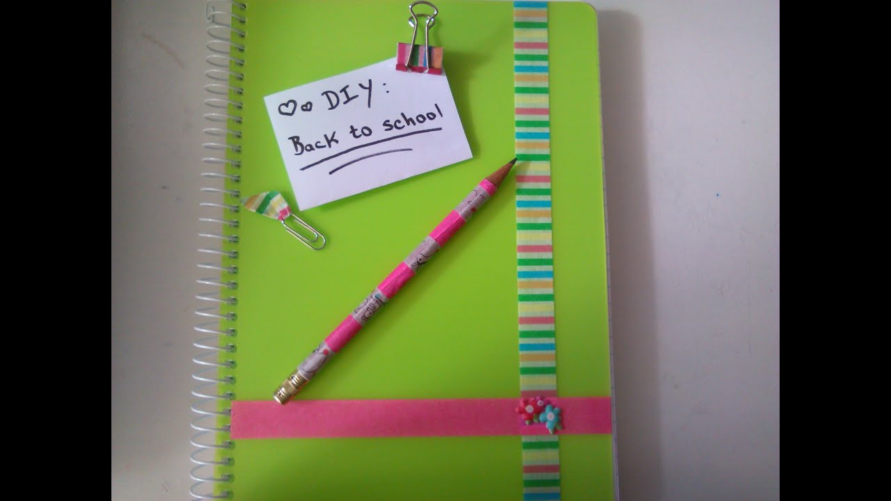 Washi Tape Ideas diy -back to school: washi tape ideas - youtube