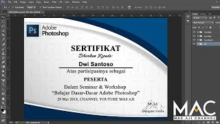 Cara membuat desain sertifikat dengan photoshop