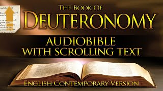 Holy Bible Audio: DEUTEŔONOMY 1 to 34 - With Text (Contemporary English)