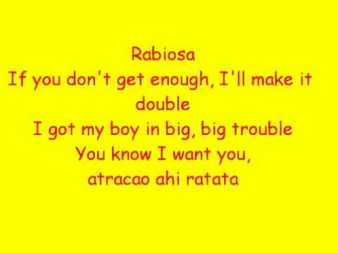 Rabiosa - Shakira Ft. Pitbull Lyrics
