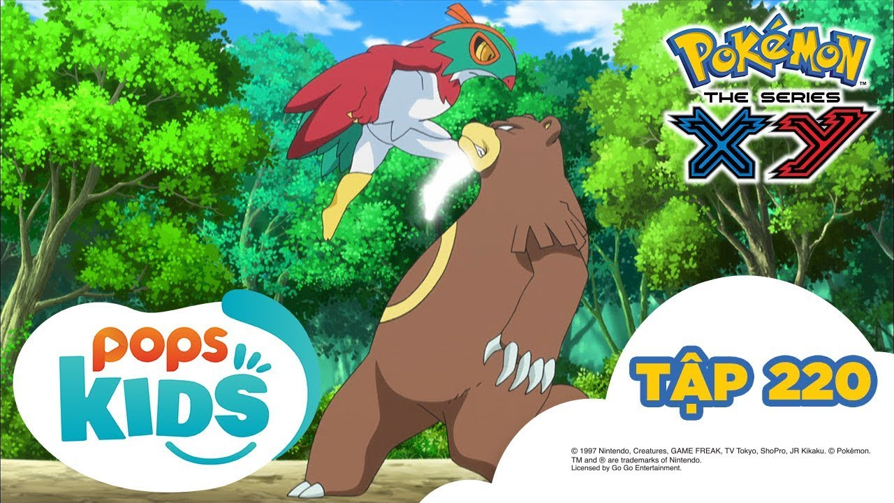 [S17 XY] Pokémon Tập 220 -Nhà Vô Địch Của Rừng Xanh! Gặp Gỡ Ruchaburu  -Hoạt Hình Tiếng Việt Pokémon