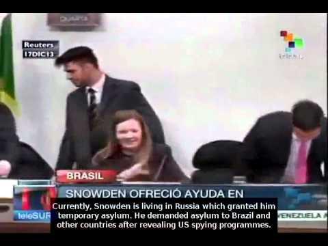 Edward Snowden offers to help Brazil investigate on NSA espionage