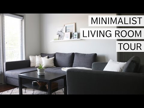 MINIMALIST LIVING ROOM TOUR | minimal design & sustainable couch