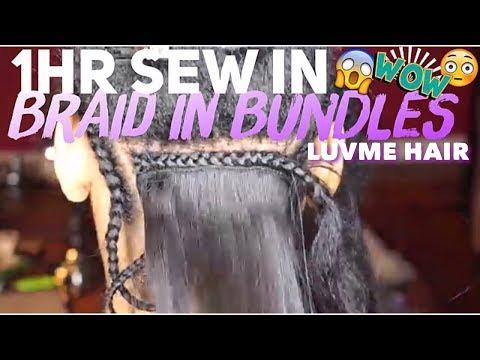 Braid In Bundles| 1HR Weave Technique| LUVME Hair