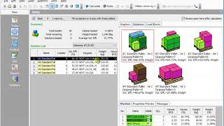 CubeMaster - How to generate the multiple pallets solutions using Pallet Optimization