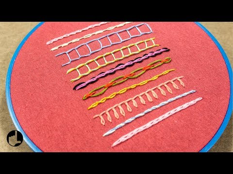 10 Embroidery Stitches for Beginners: Chain Stitch Variations - Part 7