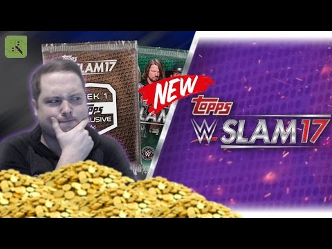 BRAND NEW CARDS! HUGE 250000 COIN PACK OPENING!! | WWE SLAM 17 #1