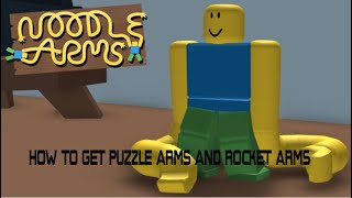 How to get puzzle and rocket in noodle arms | ROBLOX