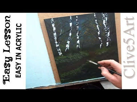 Easy First Painting, Acrylic Painting for Beginners,learn to paint