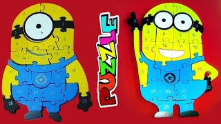 Learn NUMBERS with MINIONS COMPILATION Wooden Puzzle | Kids Learning Toy VOL 45