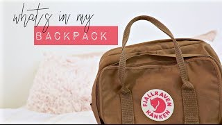 what's in my backpack 2018 + giveaway