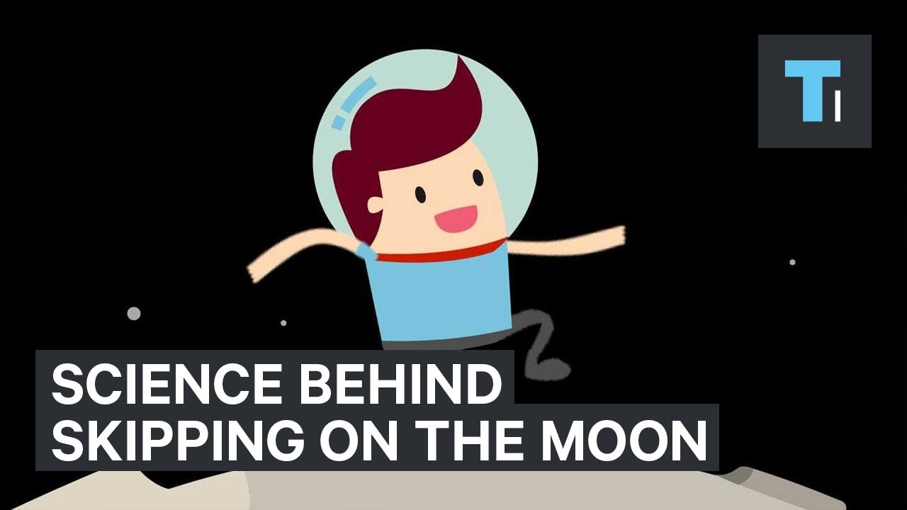 Why it's easier to hop around the moon than to walk
