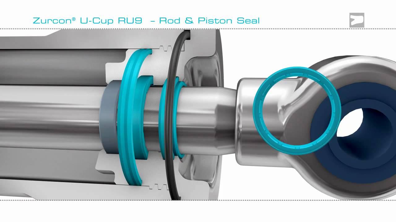 U Cup Ru9 Hydraulic Rod Seal Trelleborg Sealing