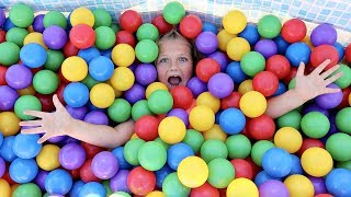Crazy Swimming Pool Ball Pit!