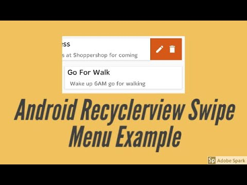 Android Recyclerview with Swipe Menu Example