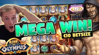 MEGA WIN! Rise of Olympus BIG WIN - 10 euro bet - Huge win from Casino LIVE stream