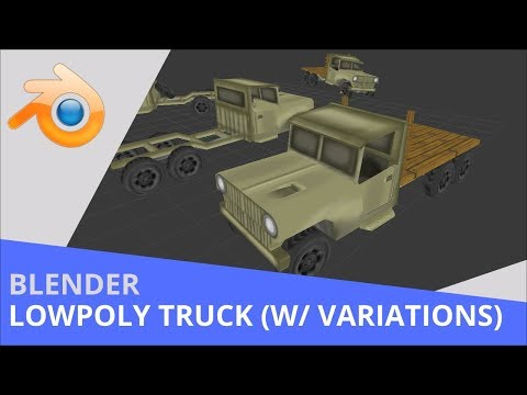 Blender - Lowpoly Hand Painted WW2 Truck (With Variations)