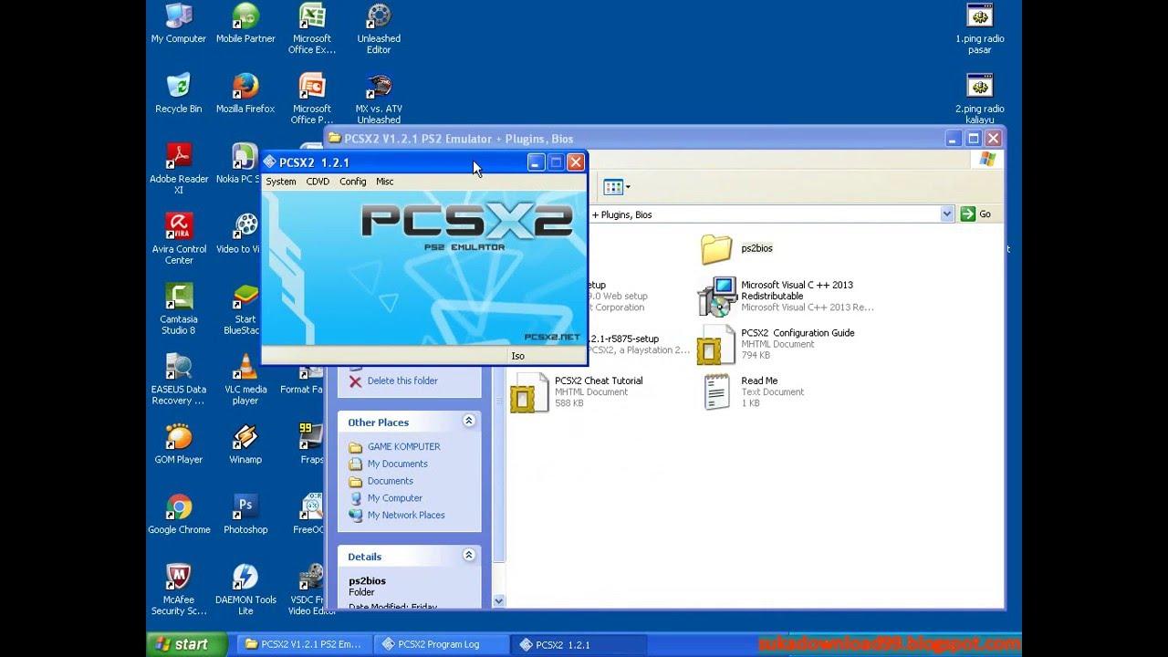 Cara instal Emulator PCSX2 (PS2 Emulator) di Windows XP