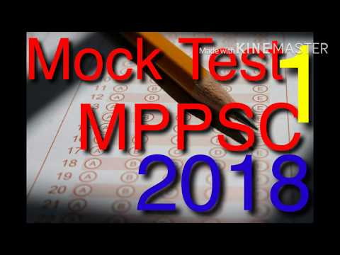 MOCK TEST 1 MPPSC 2018 (Right Academy)