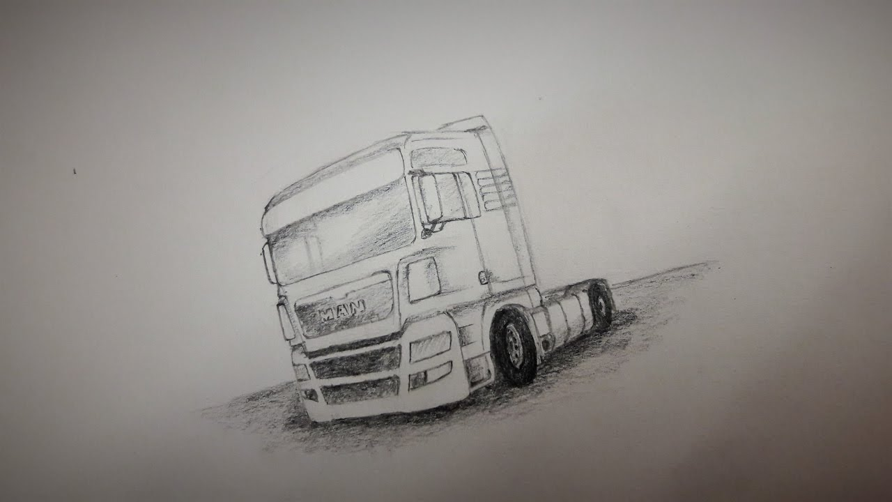 How To Draw A Truck Man Youtube