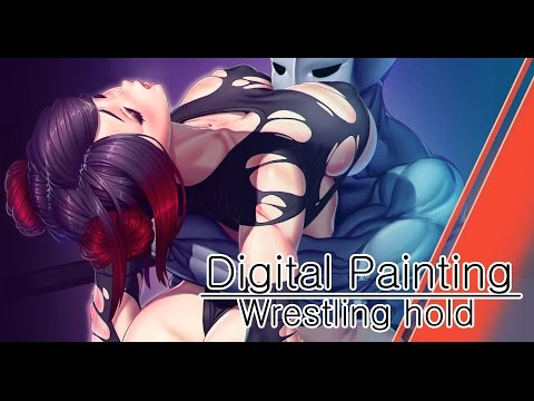 Digital Painting - Wrestling hold =)